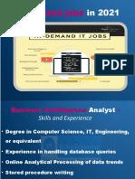 In-Demand Jobs in 2021