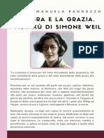 L'ombra e la grazia. I metaxù di Simone Weil. Di Maria Emanuela Randazzo