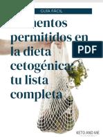 Lista Alimentos Dieta Cetogénica