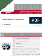 Gestao Intercultural e Globalizacao - Ano letivo 2020-2021 Aulas 3 e 4