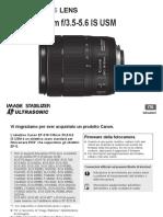 Manuale EF S 18-135  f 3,5-5,6  IS NANO USM