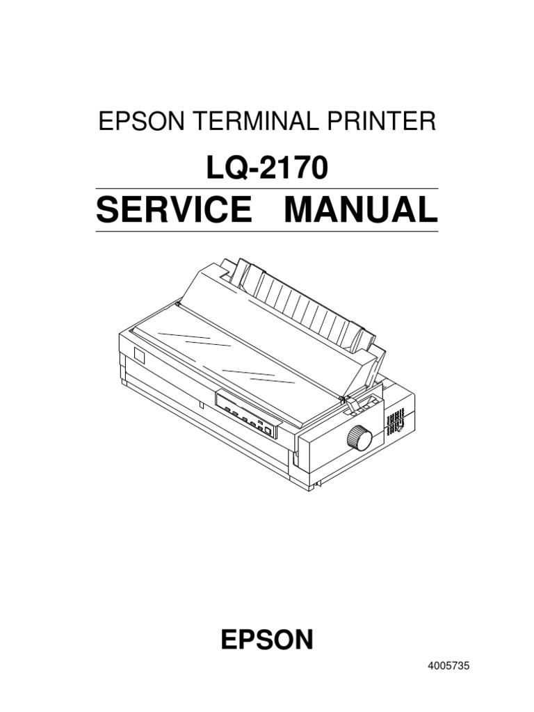epson lq 2170 terminal printer service repair manual
