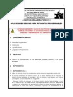 Práctica #8. Aplicaciones Básicas para Autómatas progamables