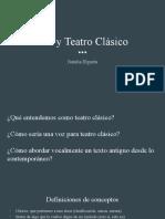 Voz y Teatro Clásico