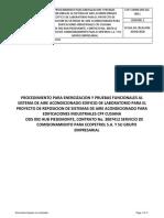 ECP-COMM-092-ELE-0011 ENERGIZACION Y PRUEBAS FUNCIONALES  AIRES ACONDICIONADOS EN LABORATORIO  CPF CUSIANA.pdf