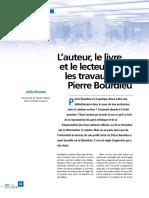 L'auteur, le livre et le lecteur dans les travaux de Pierre Bourdieu