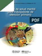 Manual de salud mental