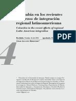 Colombia en los recientes esfuerzos de integración regional latinoamericana.pdf