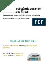 Distinguir substancias usando propriedades fisica