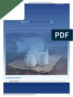 Tipos de leche y cuál consumir según los hábitos alimenticios
