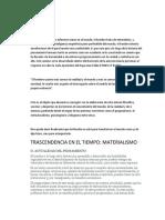 INTRODUCCIÓN Y TRASCENDENCIA EN EL TIEMPO