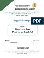 Rapport de stage Page de garde
