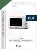 MANUAL DE SERVIÇO. Forno elétrico Fischer Star bancada 44L. Star (127V) Star (220V) Rev. 22 ATENÇÃO.pdf