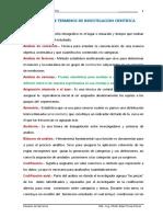 HERNANDEZ, R. GLOSARIO TERMINOS INVESTIGACION