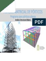 Programa para el Análisis Matricial de pórticos planos-2020