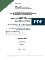 GUIA PRACTICAS-EMBRIOLOGÍA- 2020-II