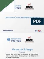 Designación de Miembros de Mesa