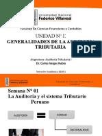 AUDITORIA TRIBUTARIA I   CLASE - 1