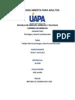 trabajo final de penologia y derecho penimntenciario