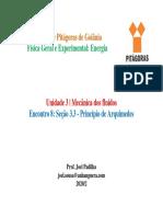Slides U3 - Encontro 8 - Princípio de Arquimedes (1)