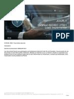 ISO 27001 Lead Implementer FR v.6.0 Day-1