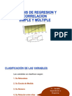 Analisis de regresion y correlacion simple y multiple