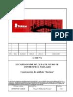 OBR-CONST-Procedimiento de Encofrado de madera de Muros de Contencion Anclados-Rev001-07092010