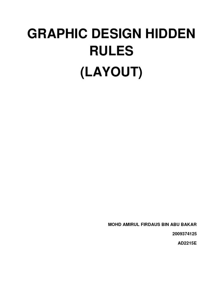 GRAPHIC DESIGN HIDDEN RULES