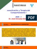 Sesion 1 - 2020-2 UNFV- Modificacion y Terapia del Comportamiento I