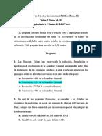 Examen de Derecho Internacional Público (Tema 12)