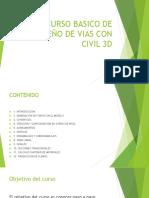 CURSO BASICO DE DISEÑO DE VIAS CON CIVIL