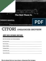 Browning Citori Up/Under Shotgun Manual