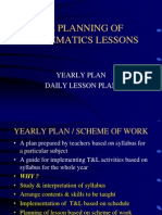 Planning of Maths Lessons