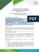 Guía de actividades y rúbrica de evaluación - Unidad 3 - Fase 4 - Elementos de Mapificación