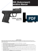 H&K P2000SK (Subcompact) Semi-automatic Pistol Manual