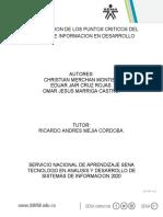 EVIDENCIA 3 IDENTIFICACION DE LOS PUNTOS CRITICOS DEL SISTEMA DE INFORMACION EN DESARROLLO.docx
