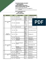 JADWAL PELAJARAN BDR 23-27  November