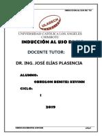 INDUCCIÓN AL USO DE TIC-2019-I