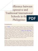 The Difference between Progressive and Traditional International Schools in the Philippines