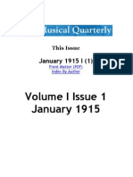 MUSICAL QUARTERLY • The Musical Quarterly.  Volume 1. Issue 1 (1915)
