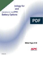Battery Technology for Data Center