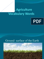 agriculture vocabulary
