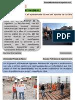 CONSTRUCCIONES I  Residente, Supervisor y Cuaderno de obra