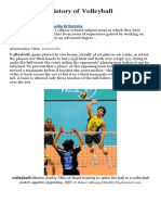 FACTS ABOUT VOLEYBALL