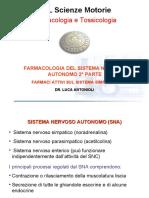 SMO Lezione 6 Farmaci del Sistema Nervoso Autonomo 2 parte e miorilassanti