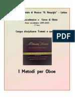 2° Anno Triennio accademico - Esame di Metodi per oboe