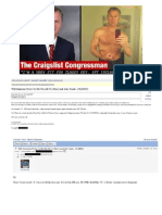 The Craigslist Congressman Rep. Chris Lee R-NY -  His Emails -  His Listing- His Resignation - Bio - Facebook page