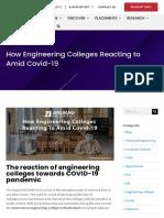 Anurag Edu in How Engineering Colleges Reacting to Amid Covid 19  #bestengineeringcollegeinhyderabad