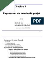 Chapitre 2 Expression du besoin de projet