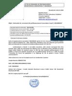 Annexe XIV_Lettre Demande de Préfinancement